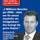 Plakat der LVB zur ÖPNV-Werbung