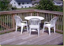 old patio set