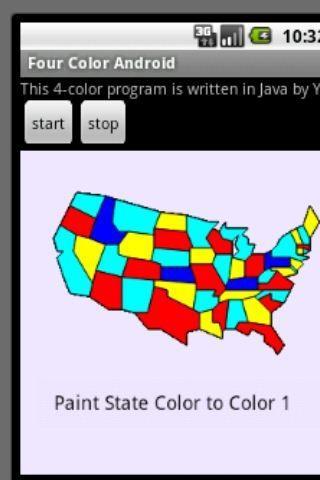 【免費休閒App】四色問題:以美國本土48州地圖為例-APP點子