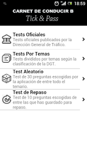 Tick&Pass Carnet de Conducir B - screenshot