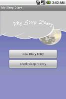 Screenshot of My Sleep Diary BETA