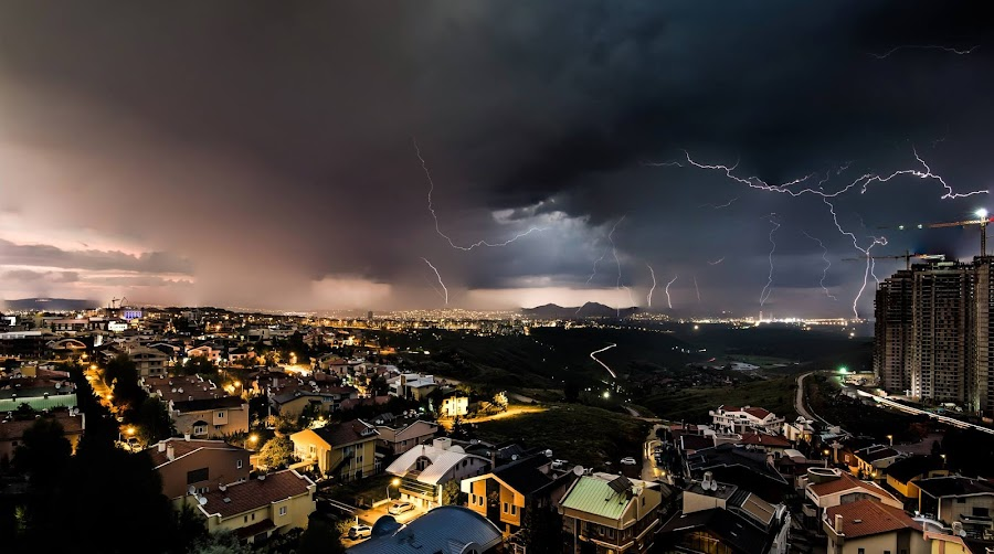 Story  by Dripta Roy - Landscapes Weather ( lightning, nature, ankara, weather, turkey, nikon, storm, landscape )