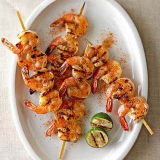 Grilled Shrimp with Ancho Chili and Lime