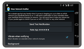 Screenshot of Wear Network Notifier