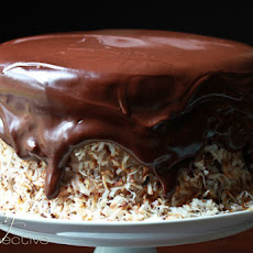 Chocolate Banana Coconut Cake