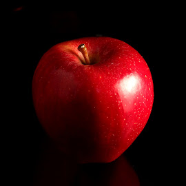 Apple by Sanjib Paul - Food & Drink Fruits & Vegetables ( red, 3d, food, apple, fruits, strobe )