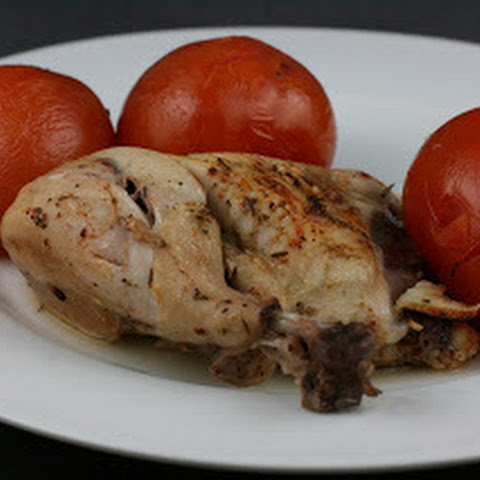 Herb Roasted Chicken with Summer Tomatoes Slow Cooker