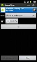 Screenshot of SleepyTimer Bedtime Calculator