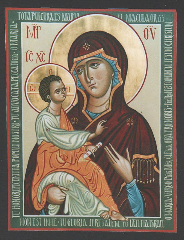 Tota pulchra - Icona dipinta da Padre Tommaso Rignanese