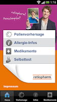 Screenshot of Pollen-Radar