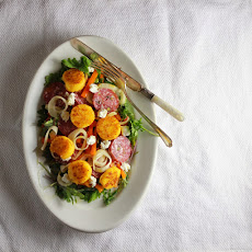 Salad with Pickled Fennel and Polenta Croutons