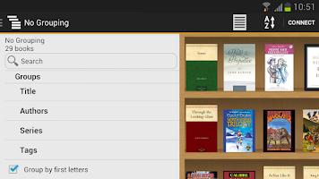 Screenshot of Calibre Companion