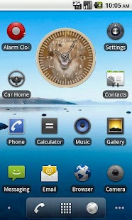 Dog 4 Retriever Analog Clock - screenshot