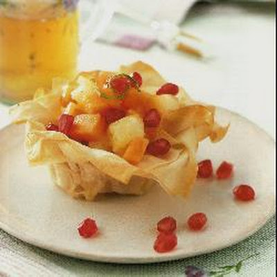 Tropical Filo Baskets