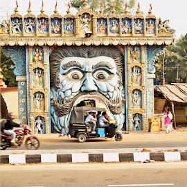 Monstrous scenerio by Arnab Bhattacharyya - City,  Street & Park  Street Scenes