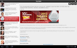 Screenshot of BroadwayWorld
