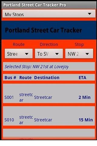 Portland Street Car Tracker