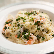 Angel Hair Pasta with Shrimp and Lemon Cream Sauce