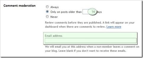 Moderasi Komentar Blogger