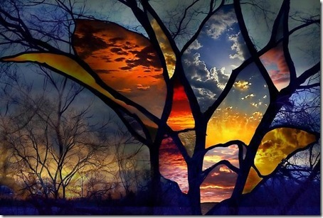 Abstract stained glass painting Backgrounds Abstract Art