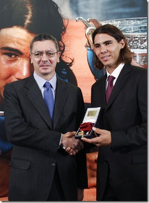 Rafael Nadal receives Madrid's Medal
