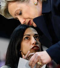hilary clinton and personal aide Huma Abedin photo