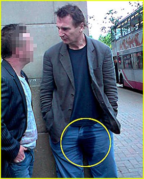 liam neeson wet his pants picture