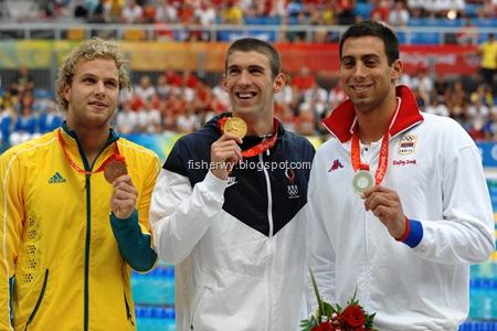Phelps gold and milorad cavic silver image credit pr photos