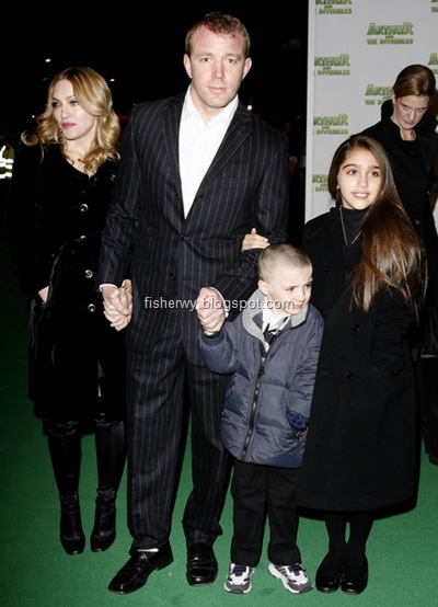 Madonna,  Guy Ritchie, son Rocco and daughter Lourdes photo