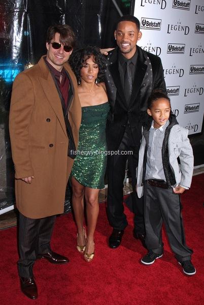 Tom Cruise, Jada Pinkett Smith, Will Smith, Jaden Smith  I Am Legend New York City premiere
