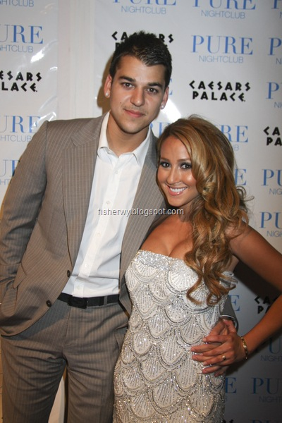 picture of Robert Kardashian and girlfriend Adrienne Bailon