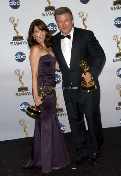Alec Baldwin and Tina Fey 2008 Emmys Best Actor and Best Actress