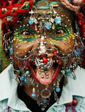 Most Pierced Woman Elaine Davidson picture