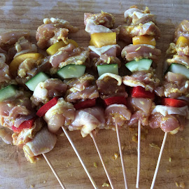 Beauty of food  by Pauline Goh - Food & Drink Meats & Cheeses ( #chicken #kebab #bbq #grill #yummy #food #food )