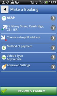 Sadlers Taxis & Minicabs - screenshot
