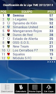 Liga F7 TME - screenshot