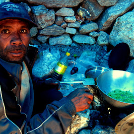 The most caring team member of the Expedition by Indrani Roy - People Portraits of Men