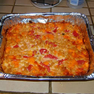 Three Cheese Macaroni with Tomatoes