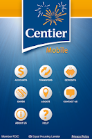 Screenshot of Centier Bank