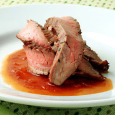 Grilled Flank Steak with Bourbon Barbecue Sauce