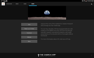Screenshot of Creation Science Update