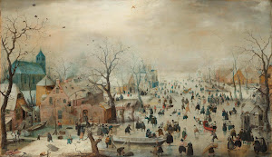 RIJKS: Hendrick Avercamp: Winter Landscape with Ice Skaters 1608
