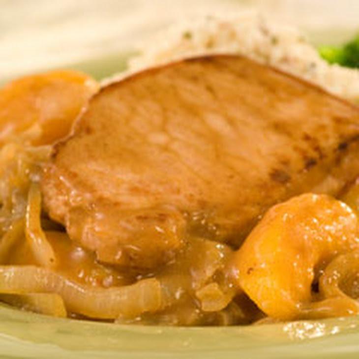 Honey Glazed Pork Chops With Peaches