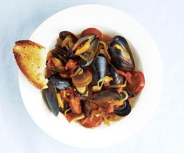... Chorizo, Fried Croutons, And Saffron Mayonnaise Recipes — Dishmaps