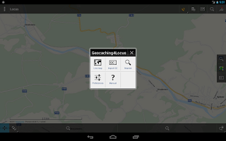 Screenshot of Locus - addon Geocaching