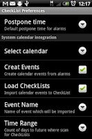 Screenshot of CheckList for Android
