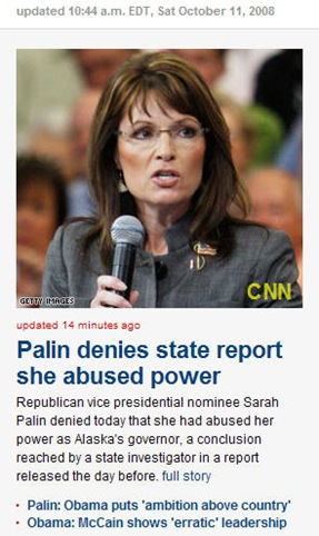 Palin Abused Power