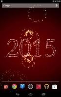 Screenshot of New Year Fireworks LWP 2016
