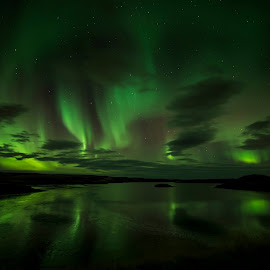 Northern Lights inearby Blonduos - Iceland by Róbert Jónsson - Landscapes Weather