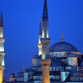 Blue Mosque in blue hour by Almas Bavcic - City,  Street & Park  Historic Districts